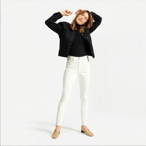 NWT Everlane White High Rise Skinny Jeans